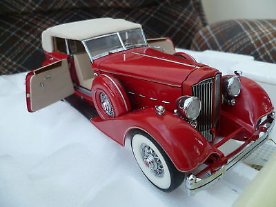EXTREMELY RARE - Franklin Mint 1:24 1934 Packard Convertible Sedan - LE of 1500