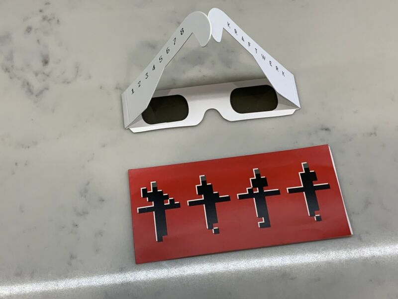 Kraftwerk Concert Glasses And Sleeve