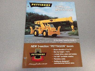 Rare Pettibone 30 Mkp Multikrane Sales Brochure