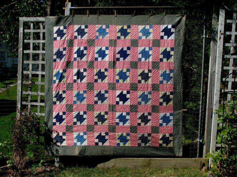 Antique Summer Quilt Made in Vermont In The Early 1900