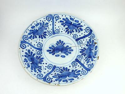 Großer Teller Hanau 18 Jh.  Keramik