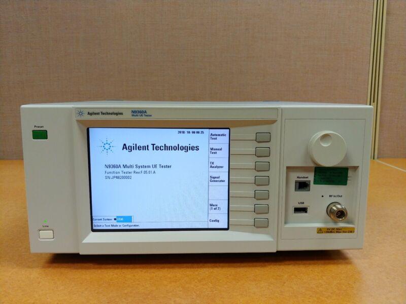 Agilent N9360A WCDMA GSM Multi UE Tester Opt G00 G03 G04 W00 W06 W07 W10 E00 E01