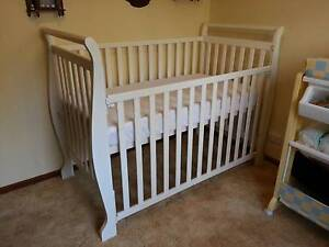 White Adjustable Cot Bungendore Queanbeyan Area Preview