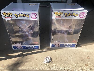 "Funko Pop Games Pokemon 10 Inch MEWTWO Target Excl 10"" NEW IN HAND READY TO SHIP"