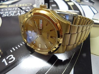 SEIKO  5  SNKK52  Gold DIal Stainless Steel SEIKO Automatic  SNKK52-NEW