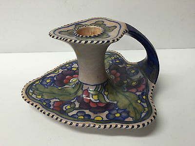 STUNNING RARE & UNIQUE CHARLOTTE RHEAD CROWN DUCAL CHAMBER CANDLESTICK HOLDER