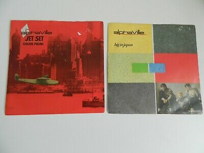 Alphaville ‎– Big In Japan & Jet Set - 7'' Vinyl record single job lot