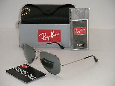 Ray Ban Aviator 3025 RB 3025 003/40 62mm Silver Frame / Full Grey Mirror (Ray Ban Large Original 62mm Aviator Sunglasses)