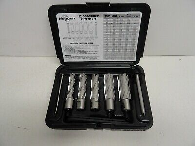 """9//16-1 1//16 sizes HOUGEN 12002 Rotabroach 2/"""" DOC  5 pc Cutter Kit New"""