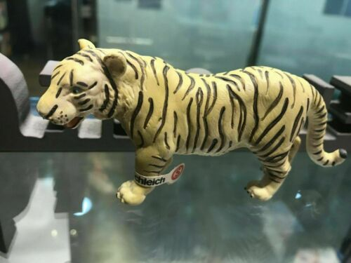 Retired Schleich White Female Tiger 14098 PVC animal figure model with tag B