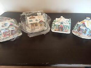 Precious moments Christmas village set.