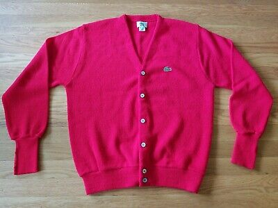 969a0eae56a3a vtg 80s IZOD LACOSTE SWEATER V NECK 46 CHEST