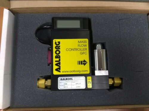 ***NEW*** AALBORG GFC17 MASS FLOW CONTROLLER 0-7.1 L/min CH4 (methane)