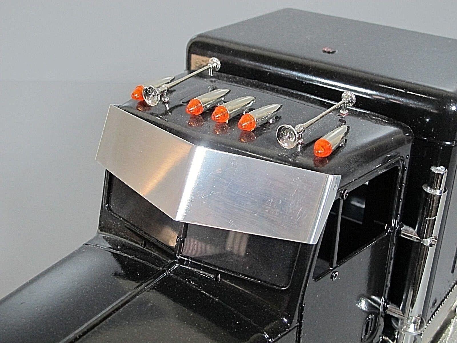 Aluminum Bowtie Sun Visor Protector Plate Tamiya RC 1/14 Sem