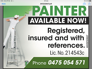 Painter Available Now Canberra City North Canberra Preview