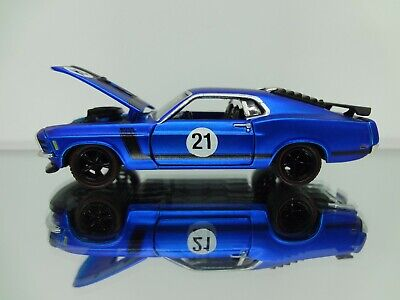 M2 1970 Ford Mustang 302 Satin Blue Rare Loose Mint 1:64 Scale Diecast