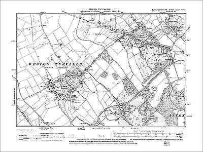 Aston Clinton, Buckland, Halton, Weston Turville, old map Bucks 1900: 34NW