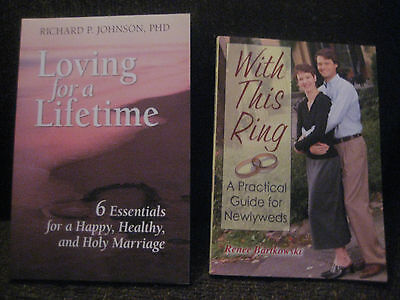 Lot of 2 Newlywed Books - Loving for a Lifetime & With This Ring - wedding prep