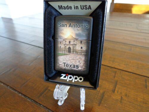 SAN ANTONIO TEXAS THE ALAMO ZIPPO LIGHTER MINT IN BOX