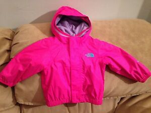 North Face rain jacket with under hoodies