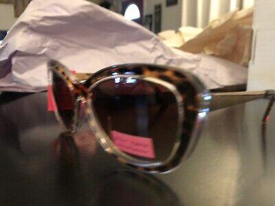 NWT NEW Betsy Betsey Johnson Sunglasses Shades Gold Animal Print (Cheetah Print Sunglasses)