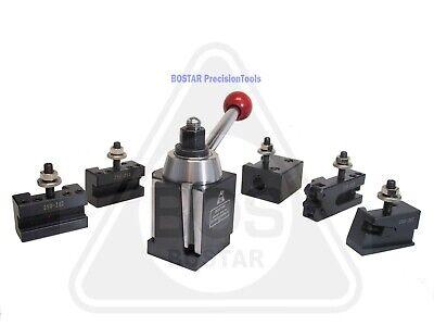 Bostar Bxa 250-222 Wedge Type Tool Post Tool Holder Set For Lathe 10-15 6pc