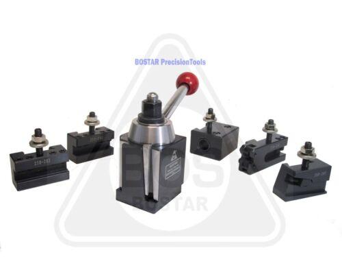 """BOSTAR BXA 250-222 Wedge Type Tool Post, Tool Holder Set for Lathe 10-15"""" , 6PC"""