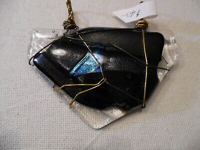 Beautiful Dichroic Glass Pendant (Dichroic Glass Pendant and Wired Wrapped - Handmade Signed by Artist BEAUTIFUL! )