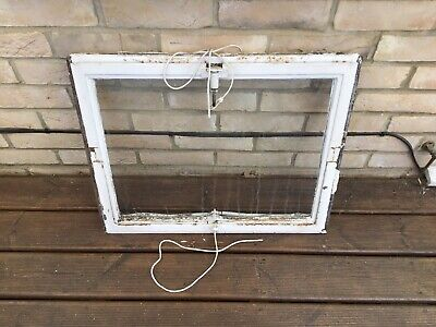 VINTAGE CRITTALL CAST IRON PIVOT WINDOW FRAME WITH CLEAR GLASS RECLAIMED