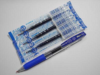 1 Pen 5 Refills Zebra Sarasa Clip 1.0mm Gel Ink Rollerball Refills Blue