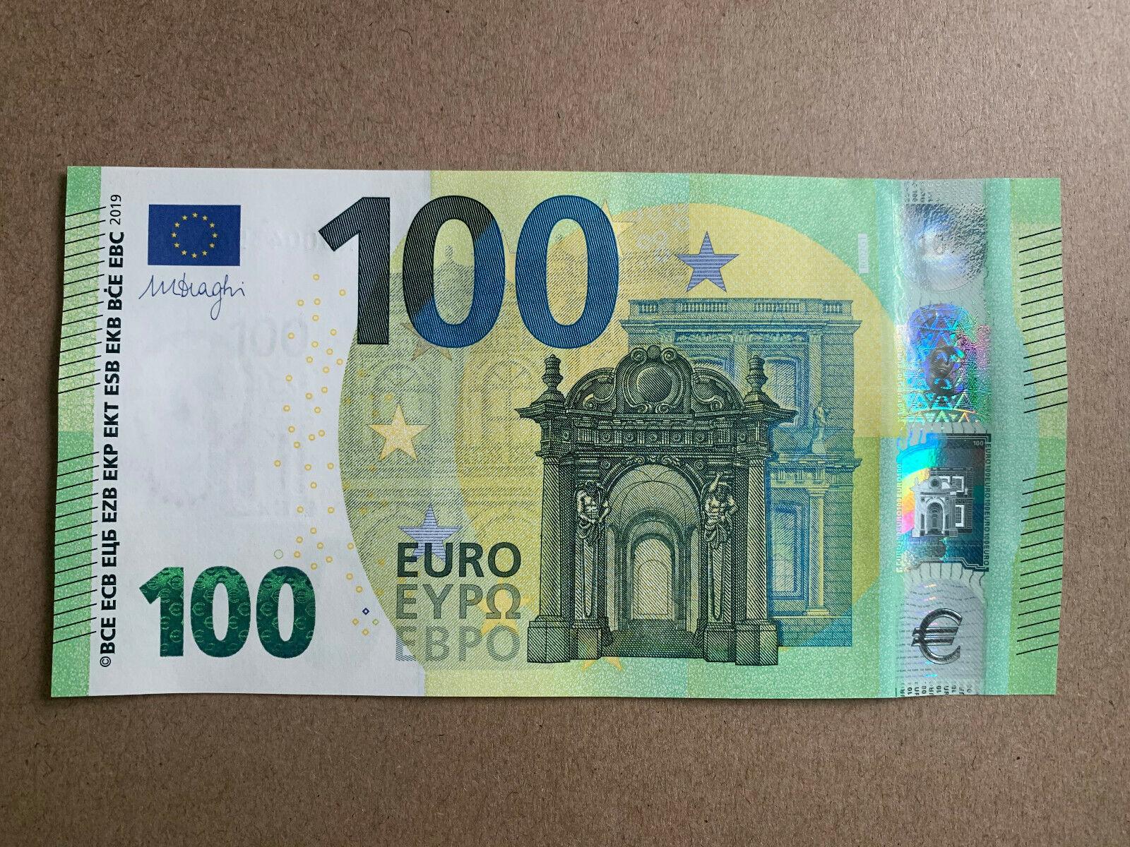 Seriennummer Euro Banknote
