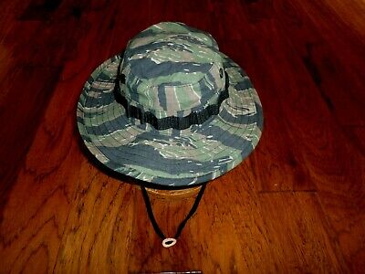 Tiger Stripe Vietnam Military Camouflage Boonie Hat Reproduction Vintage Style