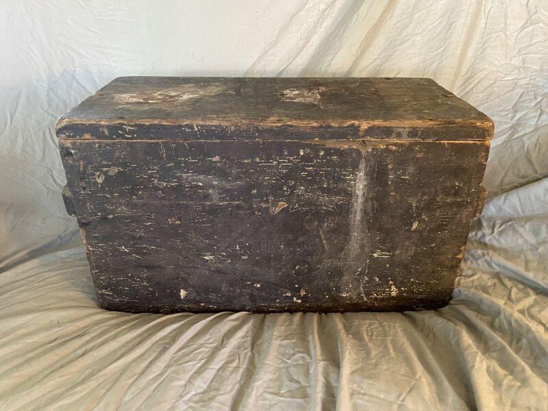 Antique Watervliet Arsenal Dec 1862 Wood Box Ammo Ammunition Crate Civil War