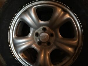 Alloy rims / tires from Subaru outback