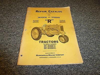 Minneapolis Moline Rtu Rts Rtn Rte Row Crop Tractor Parts Catalog Manual R1006l