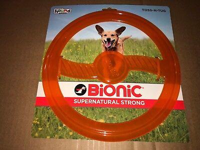 Outward Hound Bionic Toss-n-tug 2-in-1 Orange Tug Ring Dog Toy
