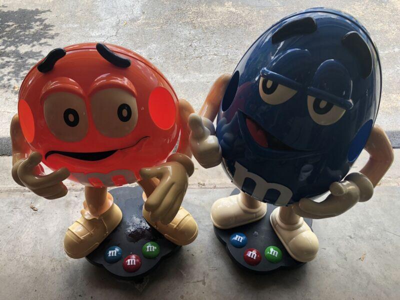 Set of 2 Blue and Orange M&M