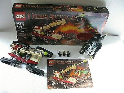 LEGO Dino Attack Iron Predator vs T-Rex 7476 Dinosaur Light Up 100% (Lego Dino Attack Iron Predator Vs T Rex)