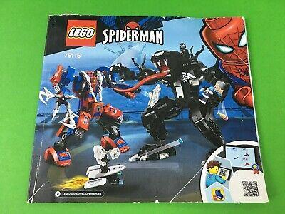 Lego Spider-Man vs Venom # 76115 Instruction Manual Pre-Owned