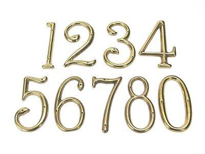 8' Solid Brass House Number - NOS! VINTAGE SAFE PADLOCK & HARDWARE CO. SOLID BRASS HOUSE NUMBERS, 2-7/8