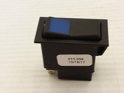 Swf 511.056 Rocker Switch Wblue Lens 3 Position Momentary Nnb