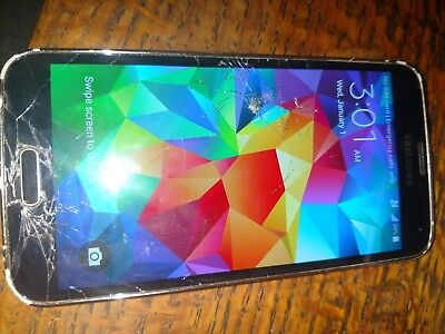 Used, Samsung Galaxy S5 Unlocked As is cracked screen parts or repair  for sale  Calgary