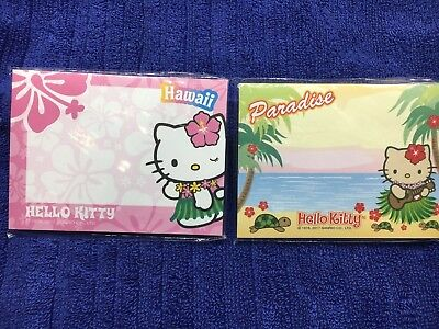 Hawaii Sticky Note Paper Pads Hello Kitty Hawaii Post Notes It Lot Of 2 Cute