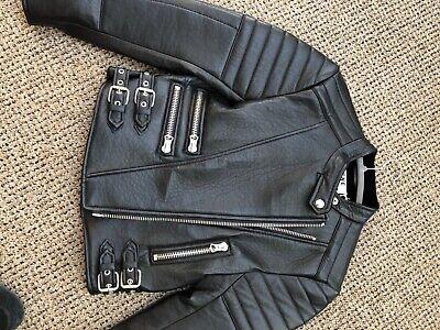 acne studios leather jacket size 38