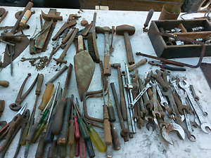 Old  hand tools. Imperial. Whitworth. Bulk lot Middle Swan Swan Area Preview
