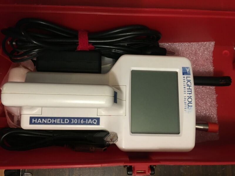 LIGHTHOUSE Handheld 3016 Airborne Particle Counter,Power 12VDC,1.25A,Flow 0.1cfm
