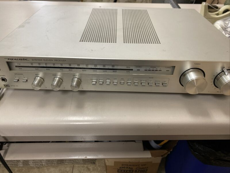 Vintage Realistic System Eleven Receiver STA-11 AM/FM Stereo Received Original