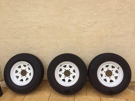 14' wheels for caravan or trailer x 3