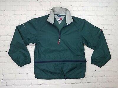 Vintage Tommy Hilfiger Green Windbreaker/Rain Jacket Pull Over YOUTH size L