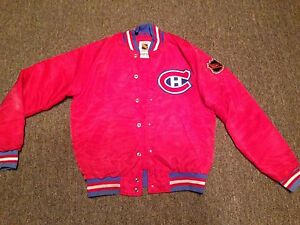 Montreal Canadiens starter satin hockey jacket coat
